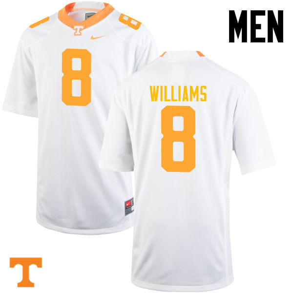 Men #8 Latrell Williams Tennessee Volunteers College Football Jerseys-White