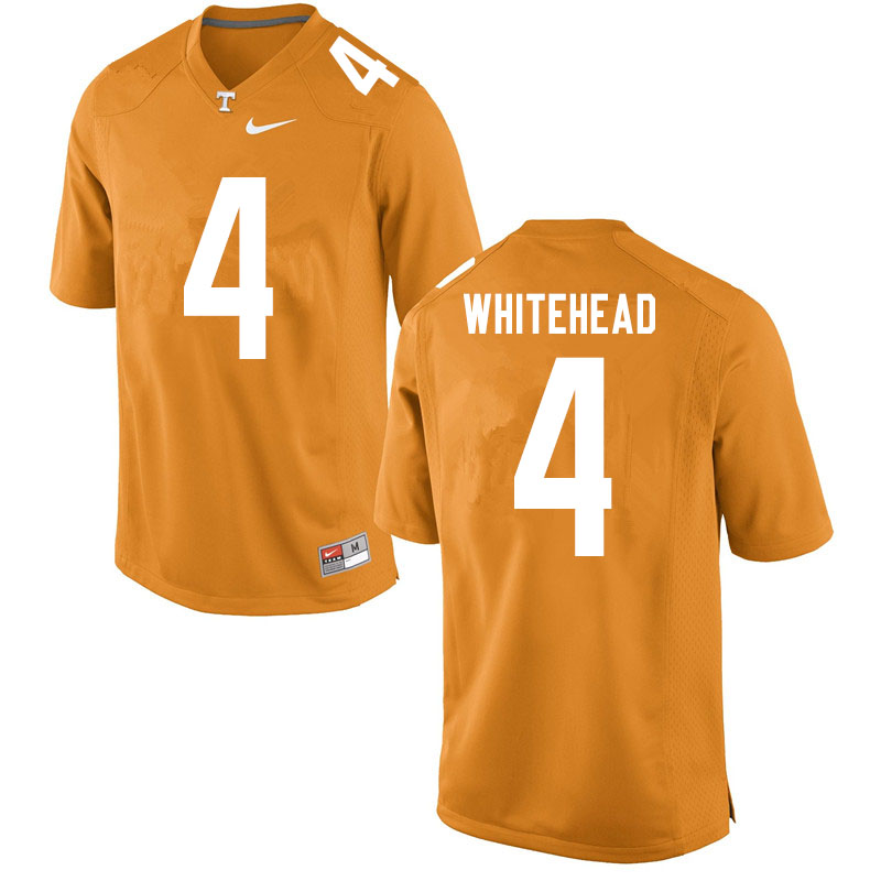 Men #4 Len'Neth Whitehead Tennessee Volunteers College Football Jerseys Sale-Orange