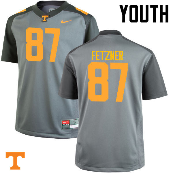 Youth #87 Logan Fetzner Tennessee Volunteers College Football Jerseys-Gray