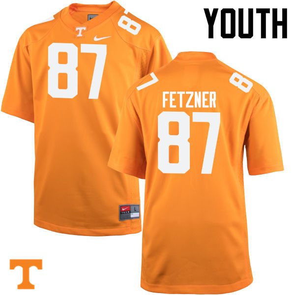 Youth #87 Logan Fetzner Tennessee Volunteers College Football Jerseys-Orange