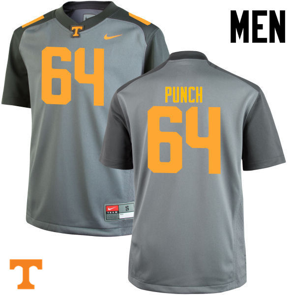 Men #64 Logan Punch Tennessee Volunteers College Football Jerseys-Gray