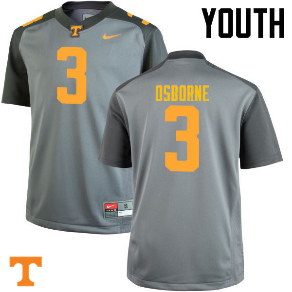 Youth #3 Marquill Osborne Tennessee Volunteers College Football Jerseys-Gray