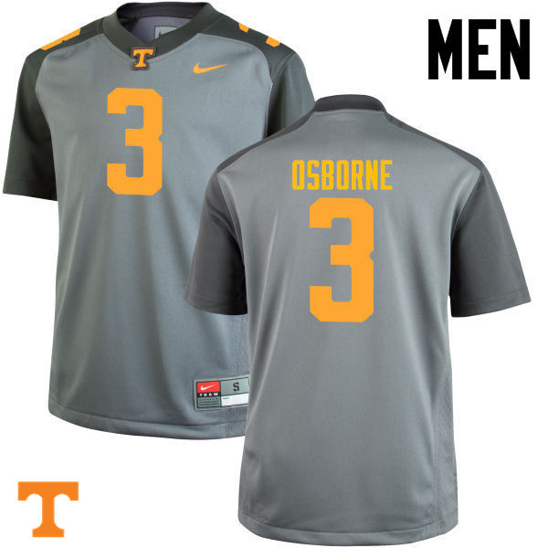 Men #3 Marquill Osborne Tennessee Volunteers College Football Jerseys-Gray
