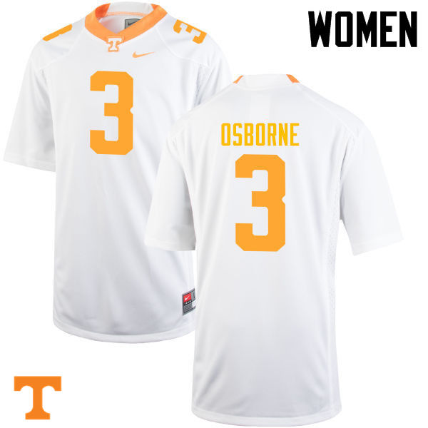 Women #3 Marquill Osborne Tennessee Volunteers College Football Jerseys-White