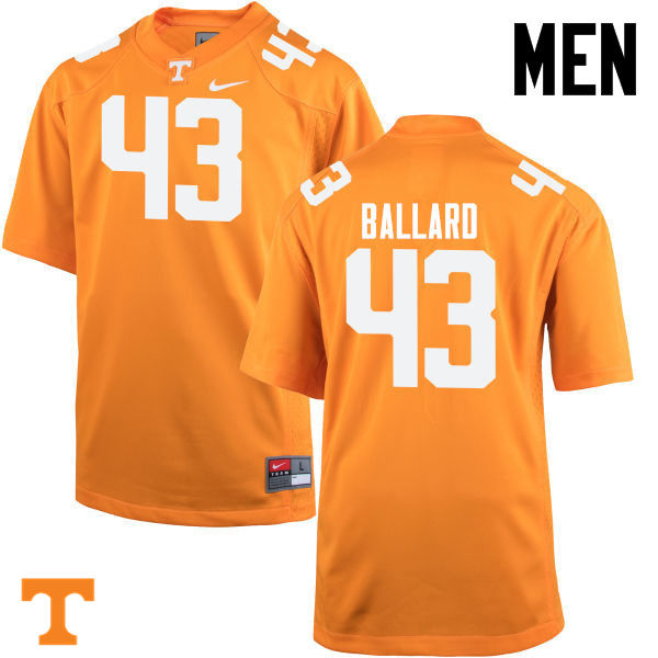 Men #43 Matt Ballard Tennessee Volunteers College Football Jerseys-Orange