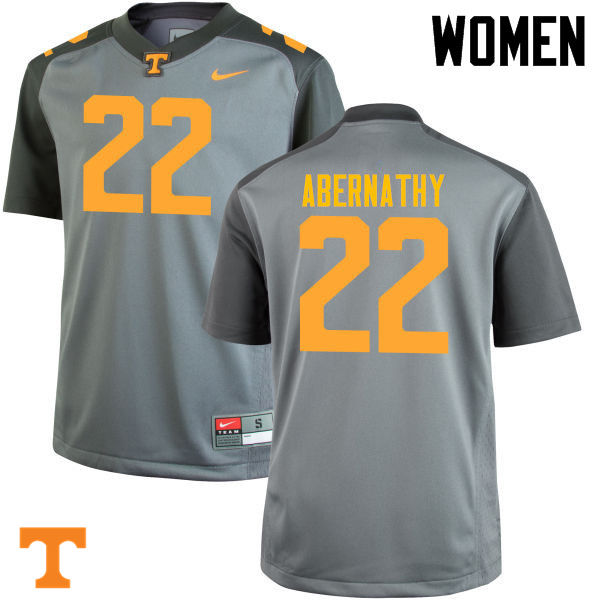 Women #22 Micah Abernathy Tennessee Volunteers College Football Jerseys-Gray