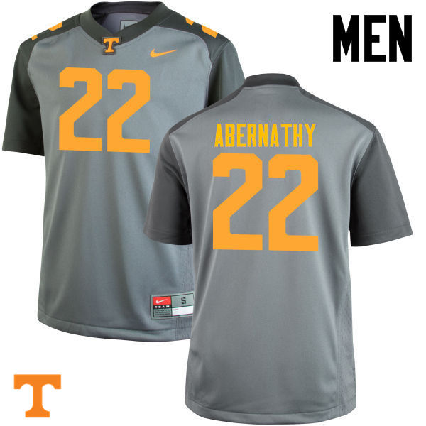 Men #22 Micah Abernathy Tennessee Volunteers College Football Jerseys-Gray