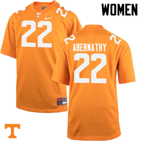 Women #22 Micah Abernathy Tennessee Volunteers College Football Jerseys-Orange