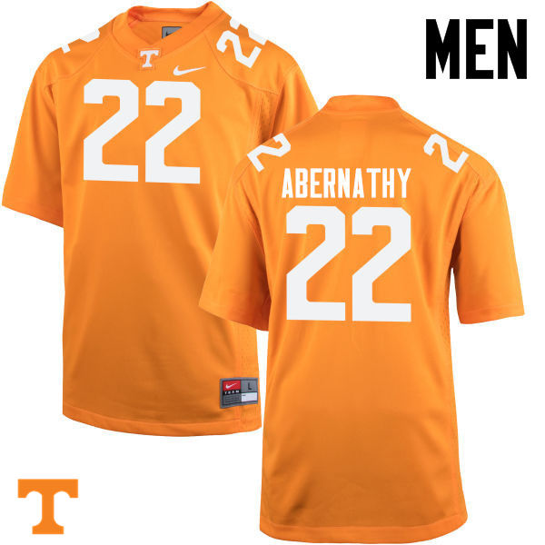 Men #22 Micah Abernathy Tennessee Volunteers College Football Jerseys-Orange