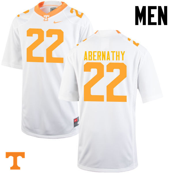 Men #22 Micah Abernathy Tennessee Volunteers College Football Jerseys-White