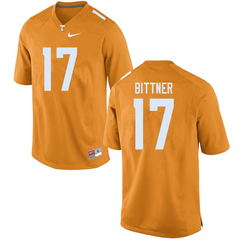 Men #17 Michael Bittner Tennessee Volunteers College Football Jerseys Sale-Orange