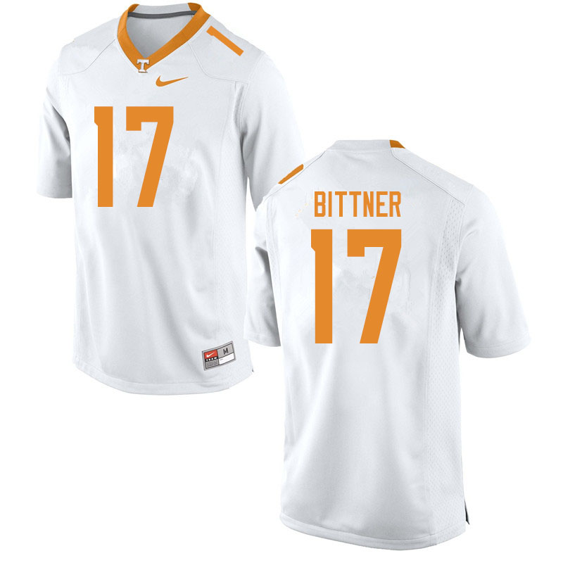 Men #17 Michael Bittner Tennessee Volunteers College Football Jerseys Sale-White