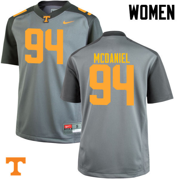 Women #94 Mykelle McDaniel Tennessee Volunteers College Football Jerseys-Gray
