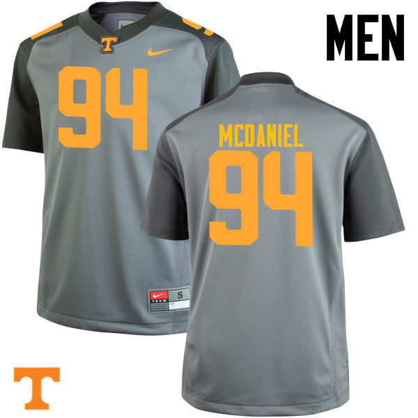 Men #94 Mykelle McDaniel Tennessee Volunteers College Football Jerseys-Gray