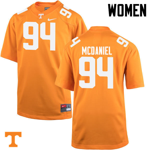 Women #94 Mykelle McDaniel Tennessee Volunteers College Football Jerseys-Orange