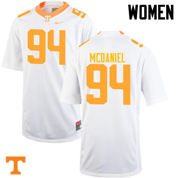 Women #94 Mykelle McDaniel Tennessee Volunteers College Football Jerseys-White