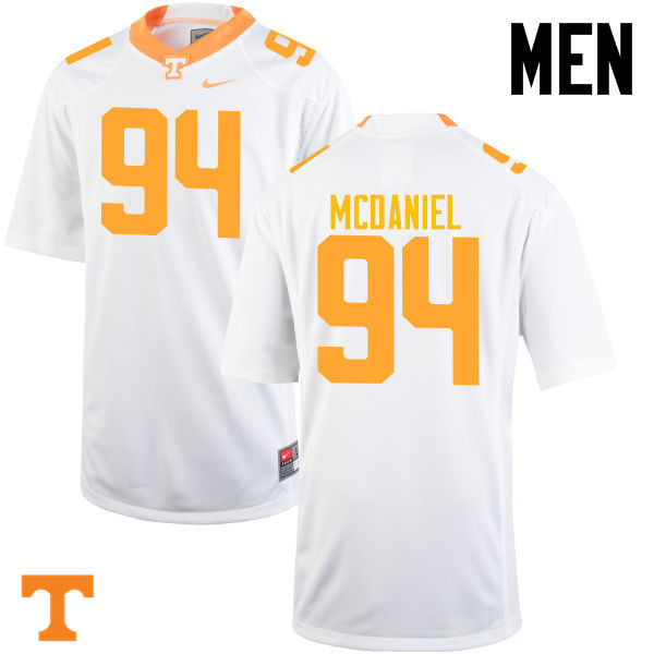 Men #94 Mykelle McDaniel Tennessee Volunteers College Football Jerseys-White