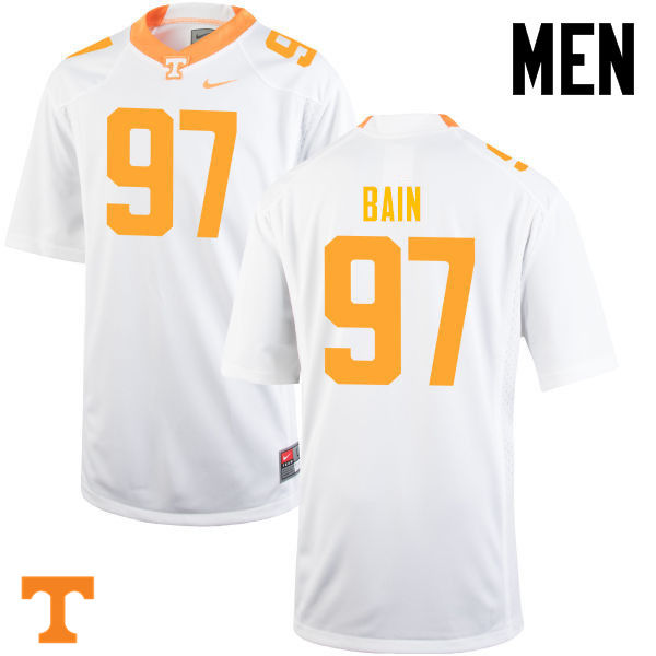 Men #97 Paul Bain Tennessee Volunteers College Football Jerseys-White