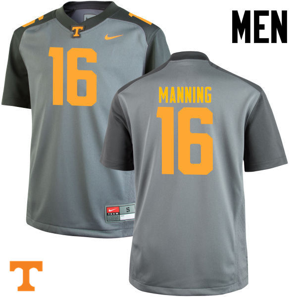 d84119441 Men  16 Peyton Manning Tennessee Volunteers College Football Jerseys-Gray