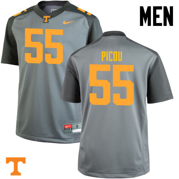 Men #55 Quay Picou Tennessee Volunteers College Football Jerseys-Gray