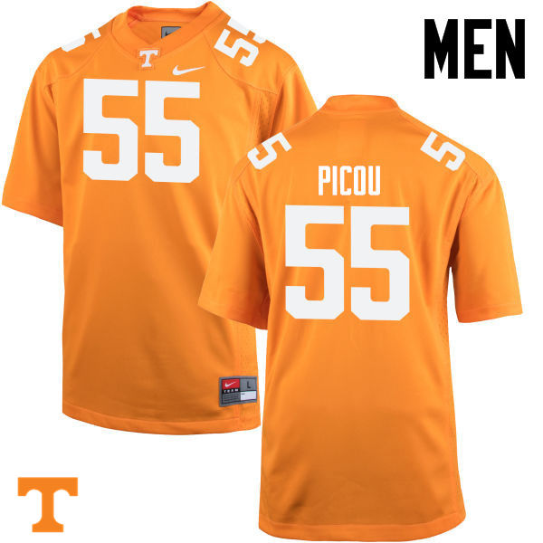 Men #55 Quay Picou Tennessee Volunteers College Football Jerseys-Orange