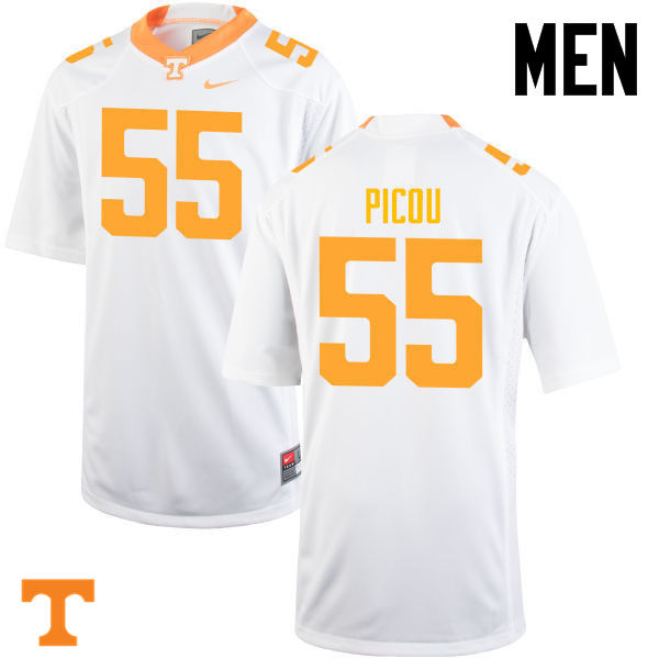 Men #55 Quay Picou Tennessee Volunteers College Football Jerseys-White