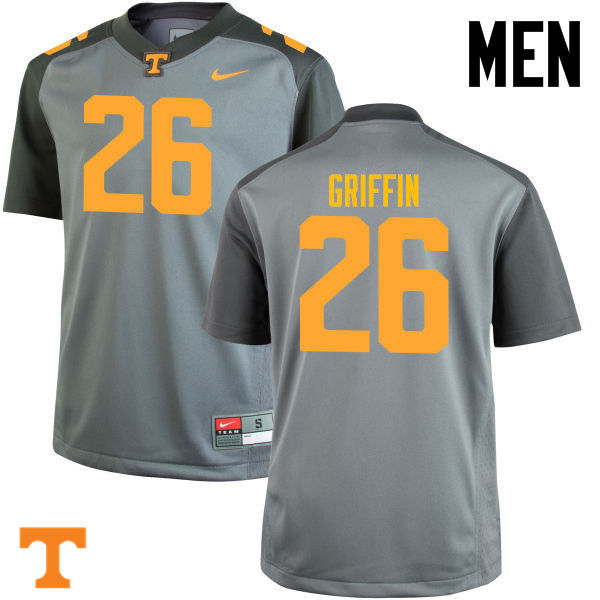 Men #26 Stephen Griffin Tennessee Volunteers College Football Jerseys-Gray