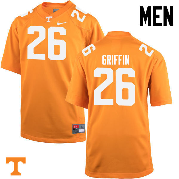 Men #26 Stephen Griffin Tennessee Volunteers College Football Jerseys-Orange