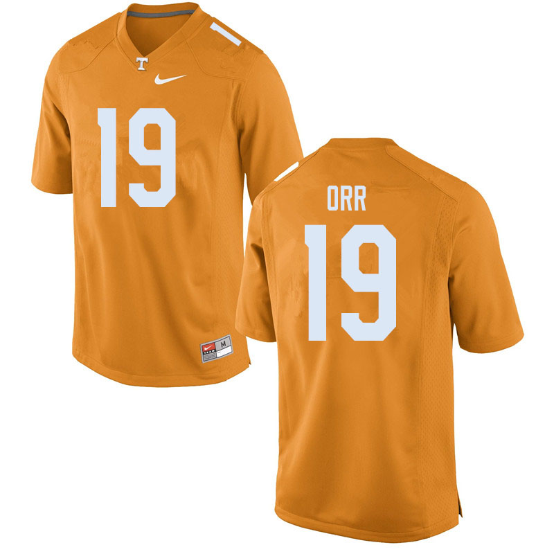 Men #19 Steven Orr Tennessee Volunteers College Football Jerseys Sale-Orange