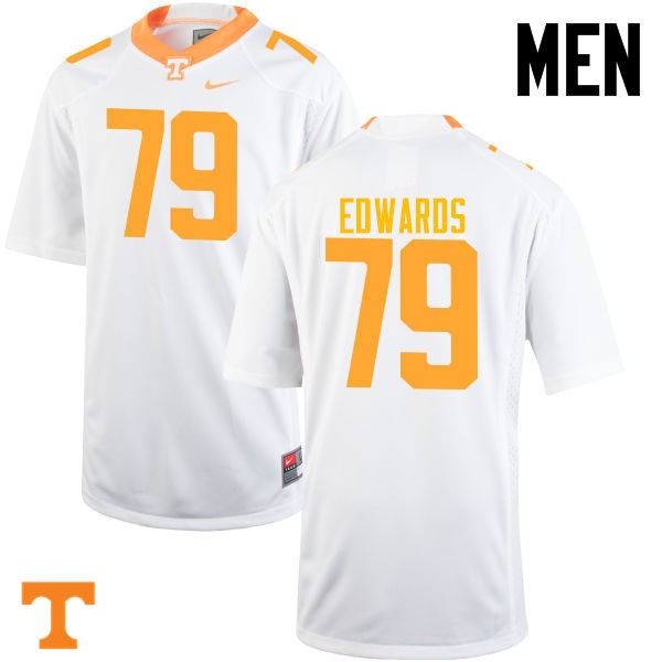 Men #79 Thomas Edwards Tennessee Volunteers College Football Jerseys-White