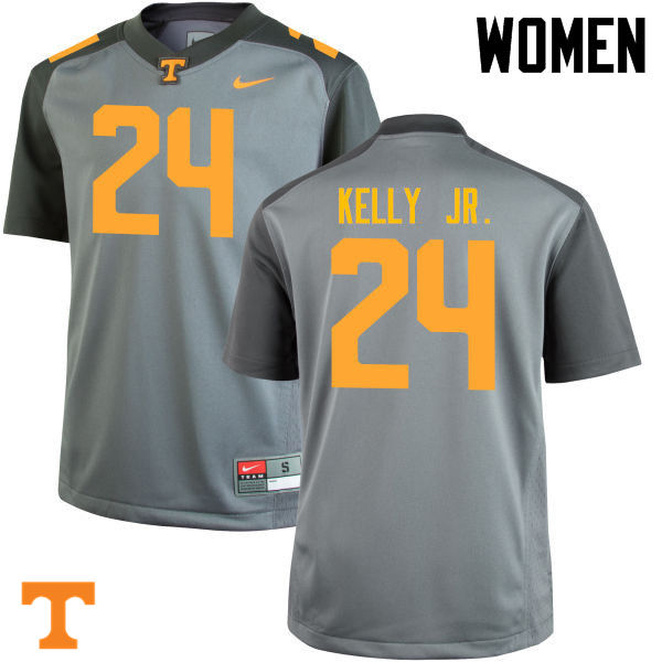 Women #24 Todd Kelly Jr. Tennessee Volunteers College Football Jerseys-Gray