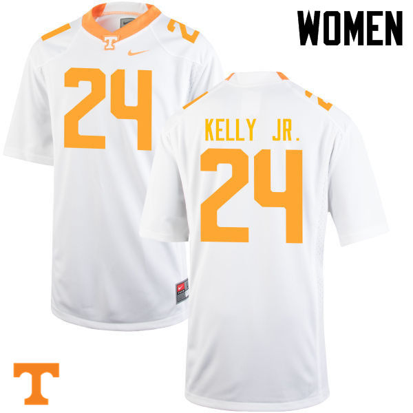 Women #24 Todd Kelly Jr. Tennessee Volunteers College Football Jerseys-White