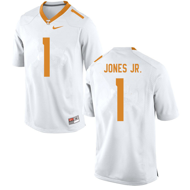 Men #1 Velus Jones Jr. Tennessee Volunteers College Football Jerseys Sale-White