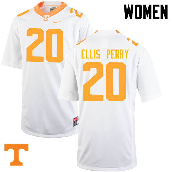 Women #20 Vincent Ellis Perry Tennessee Volunteers College Football Jerseys-White