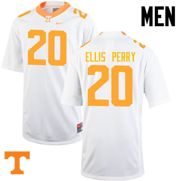Men #20 Vincent Ellis Perry Tennessee Volunteers College Football Jerseys-White