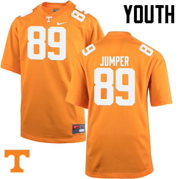 Youth #89 Will Jumper Tennessee Volunteers College Football Jerseys-Orange