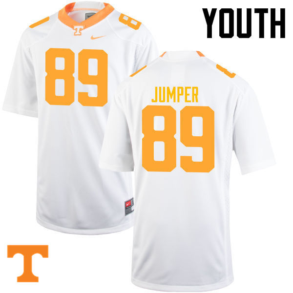 Youth #89 Will Jumper Tennessee Volunteers College Football Jerseys-White
