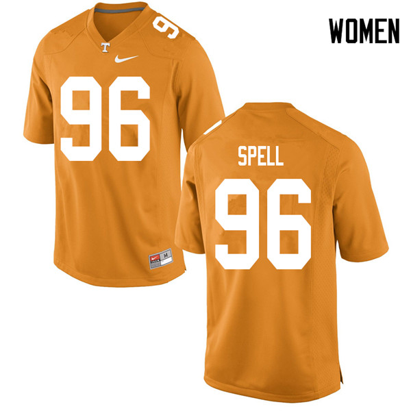 Women #96 Airin Spell Tennessee Volunteers College Football Jerseys Sale-Orange