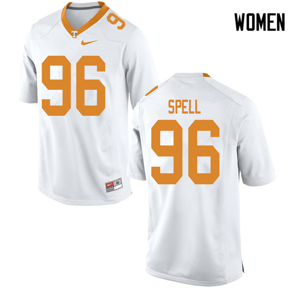 Women #96 Airin Spell Tennessee Volunteers College Football Jerseys Sale-White