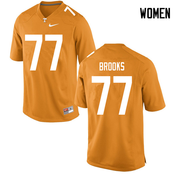 Women #77 Devante Brooks Tennessee Volunteers College Football Jerseys Sale-Orange