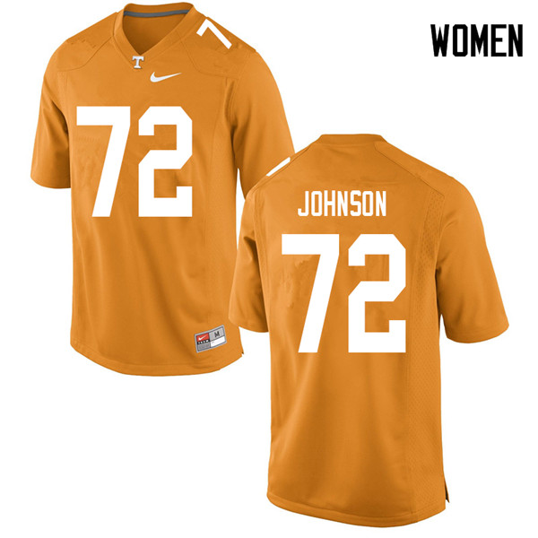 Women #72 Jahmir Johnson Tennessee Volunteers College Football Jerseys Sale-Orange
