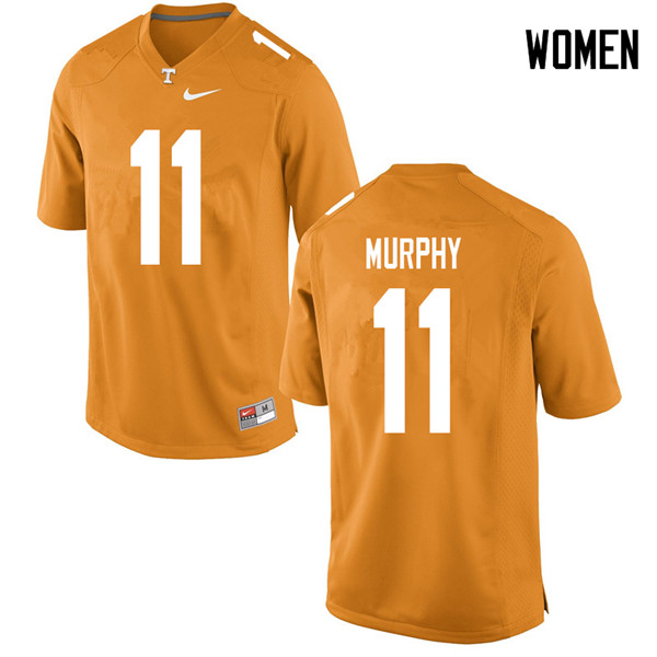 Women #11 Jordan Murphy Tennessee Volunteers College Football Jerseys Sale-Orange