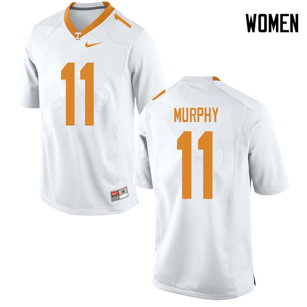 Women #11 Jordan Murphy Tennessee Volunteers College Football Jerseys Sale-White