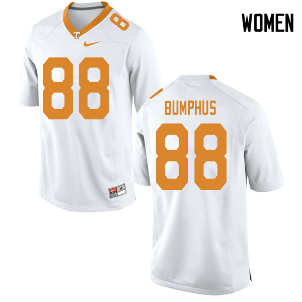 Women #88 LaTrell Bumphus Tennessee Volunteers College Football Jerseys Sale-White
