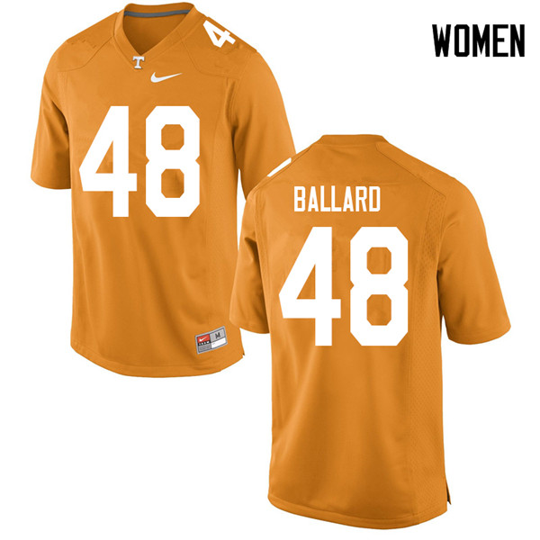 Women #48 Matt Ballard Tennessee Volunteers College Football Jerseys Sale-Orange