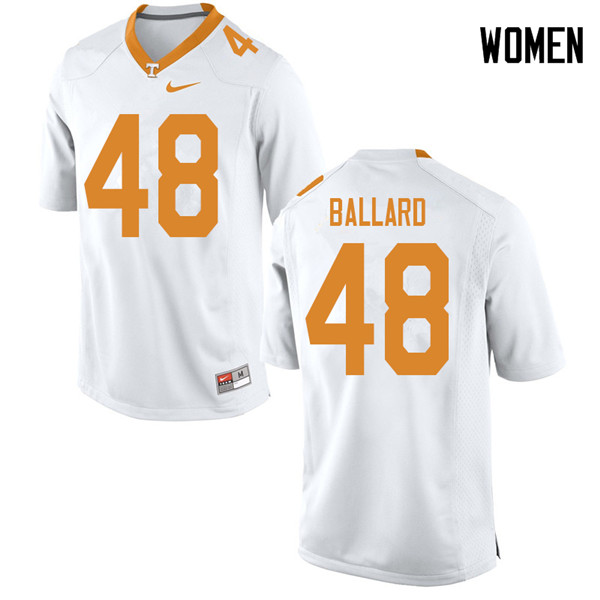Women #48 Matt Ballard Tennessee Volunteers College Football Jerseys Sale-White
