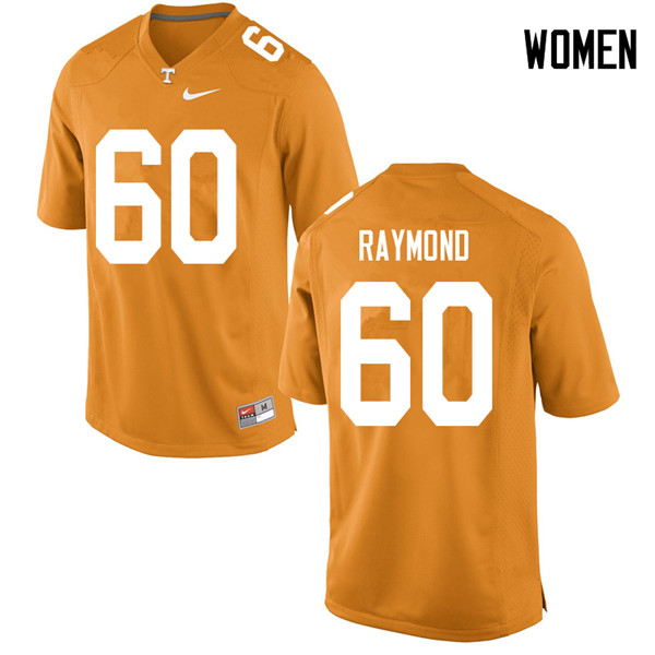 Women #60 Michael Raymond Tennessee Volunteers College Football Jerseys Sale-Orange