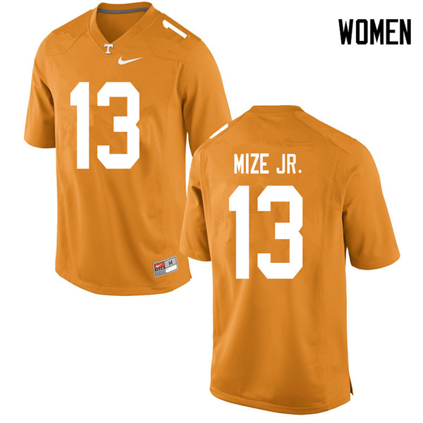 Women #13 Richard Mize Jr. Tennessee Volunteers College Football Jerseys Sale-Orange