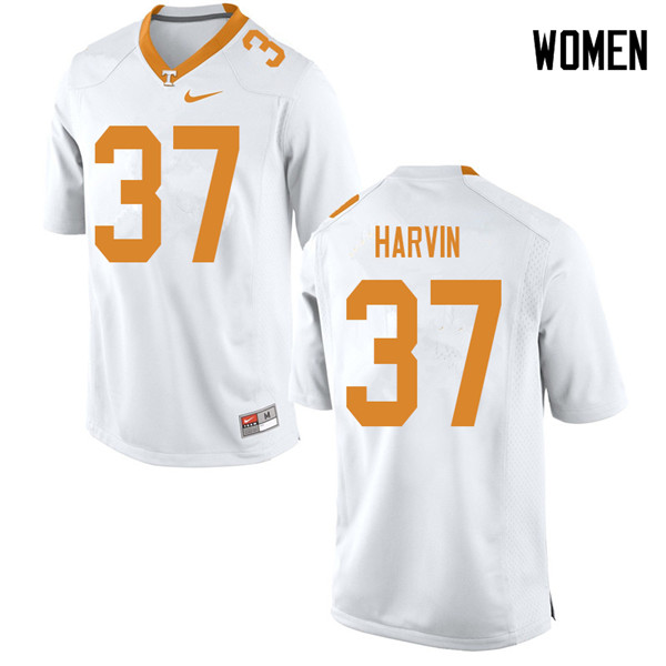 Women #37 Sam Harvin Tennessee Volunteers College Football Jerseys Sale-White