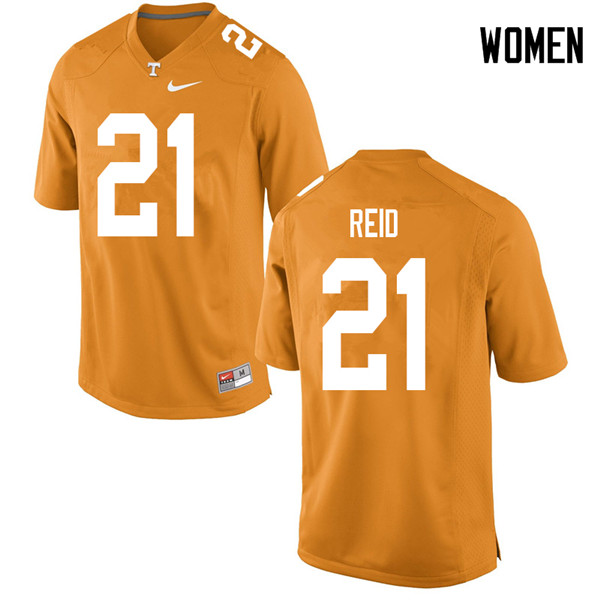 Women #21 Shanon Reid Tennessee Volunteers College Football Jerseys Sale-Orange
